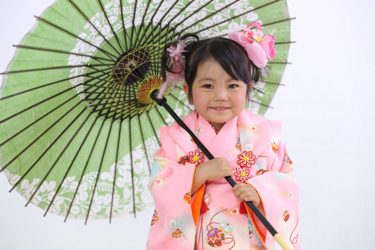 ☆ピンクのお着物でニコニコさん☆