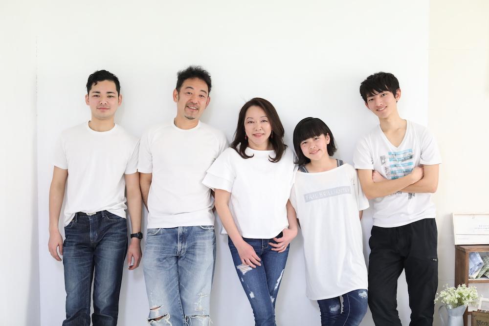 家族写真の撮影ができた事に感謝致します。